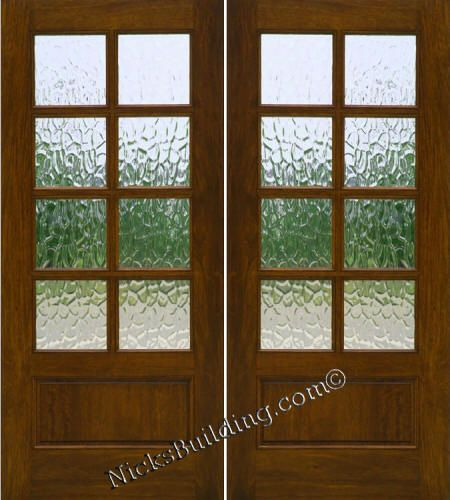 Double doors patio and solid wood on pinterest for Solid french doors exterior