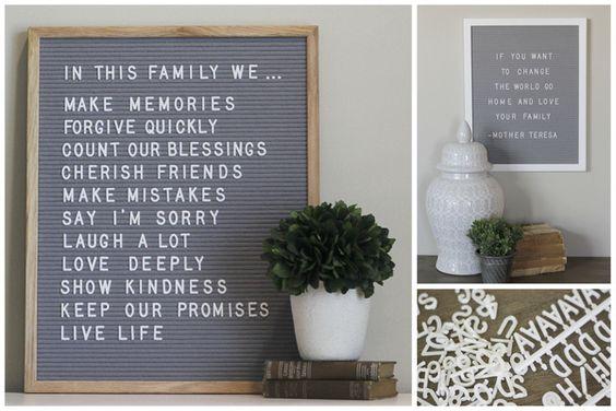 We love these letter boards for every day decor, parties and photo props!
