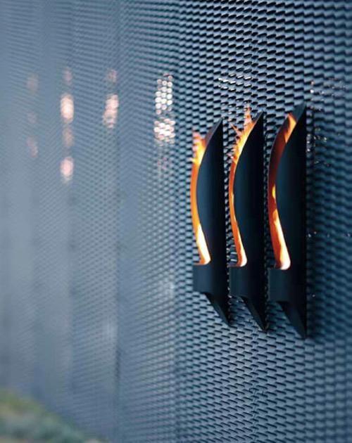 Chimenea de pared de diseño minimalista
