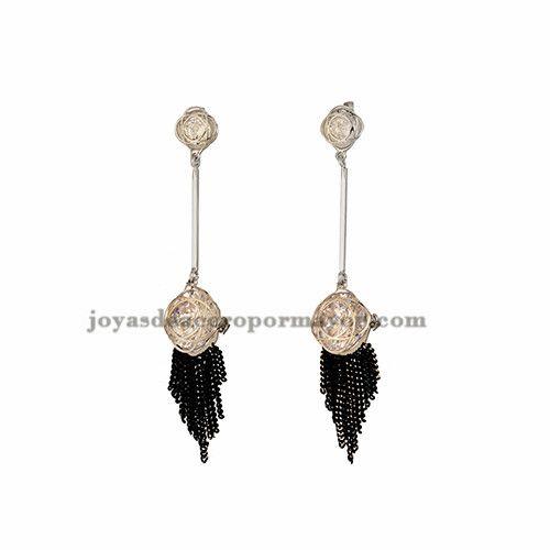 pendientes de birllante cristal en cobre plateado para mujer -BREGG74222