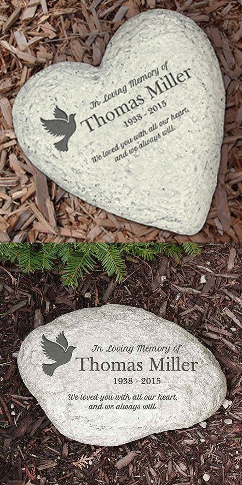 Decorative Stepping Stones 118863 Personalized Memorial Garden Stone In Loving Memory Dove Large Round Or Memorial Garden Stones Stone In Love Memorial Garden