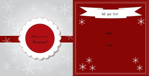 Free printable Christmas gift certificate template Can be - gift certificate word template free