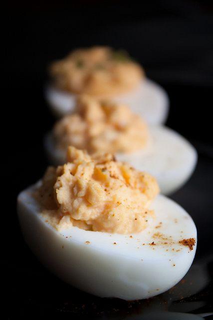 Deviled Eggs. http://www.acquiredlife.com/2012/04/perfect-hard-boiled-deviled-eggs-redo.html