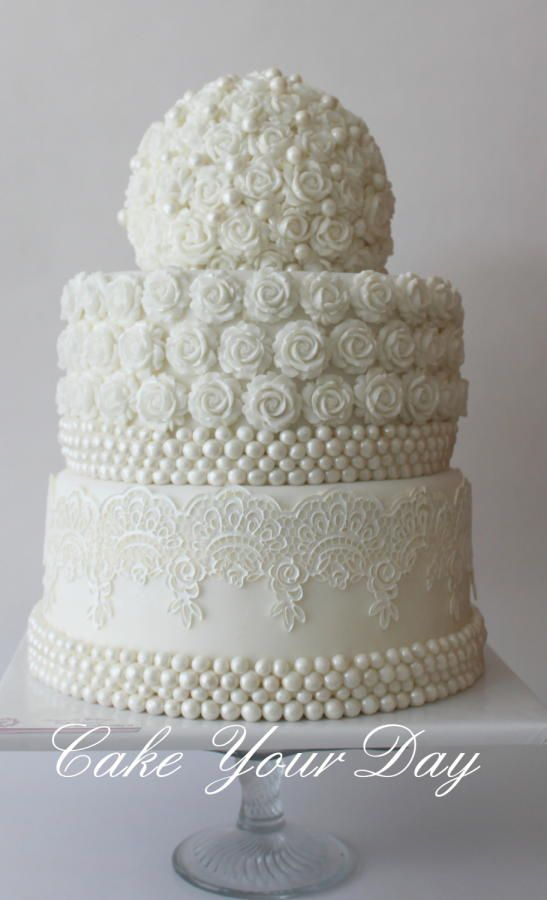 wedding cakes with roses and pearls white roses and pearls wedding cake cake by cake your 26108