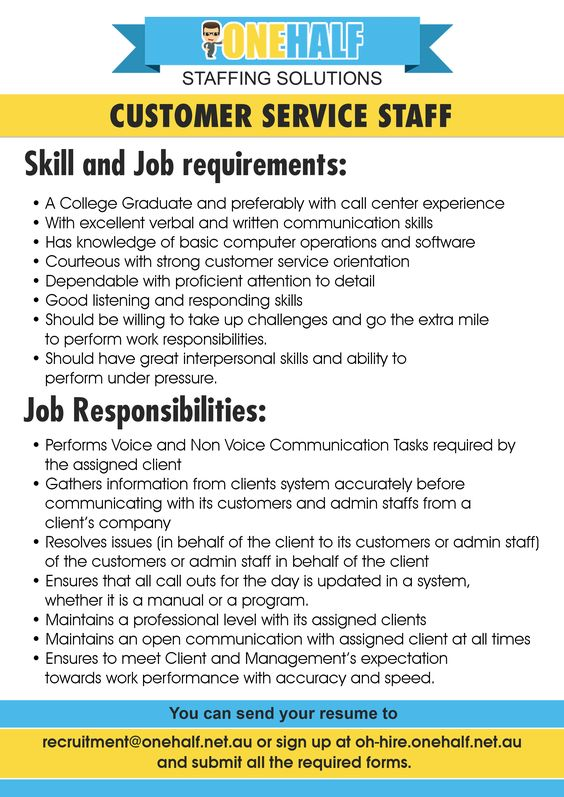 Looking For A Job As A Customer Service Support Staff Onehalf