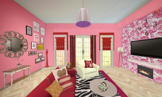 My own design of peach perfect living room on homestyler