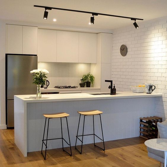 20 Best Kitchen Lighting Ideas Pictures For Design Your New Kitchen Kitchen Kitchenlig Track Lighting Kitchen Interior Design Kitchen Kitchen Lighting Design