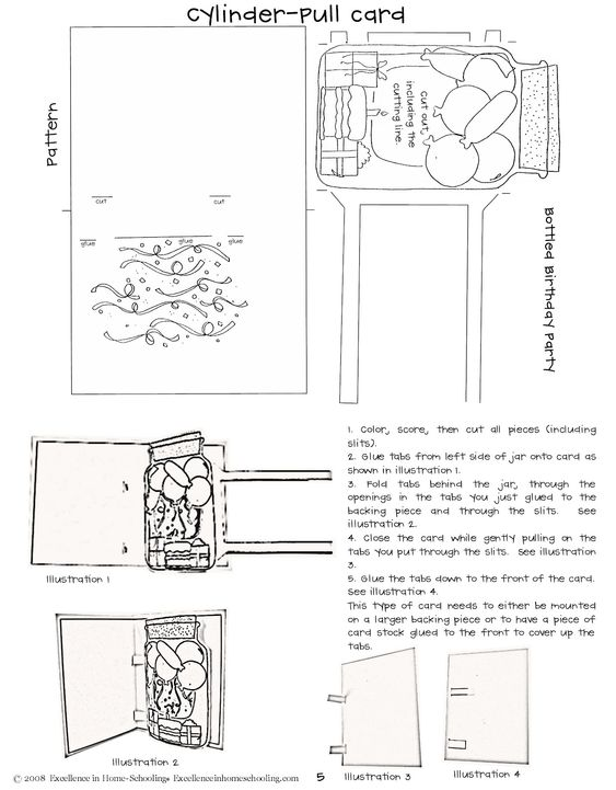 laura's frayed knot: pop-up cards instructions and patterns