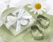 """""""Pitter-Patter of Little Feet"""" Stainless-Steel Baby Footprint Cookie Cutters"""