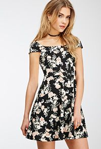 Floral Print Cap Sleeve Dress $17.90 | Forever 21 Canada