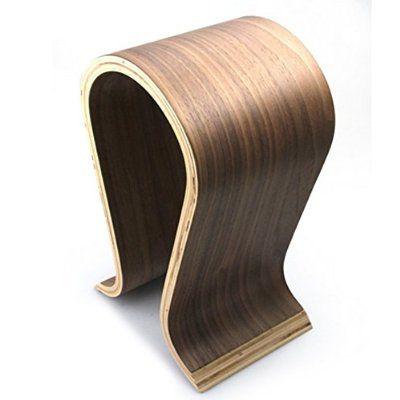 ARETOP Holz Halterung Kopfhörer Gaming Headset Ständer Halter Aufhänger Bambus Halter für Kopfhörer und Headsets