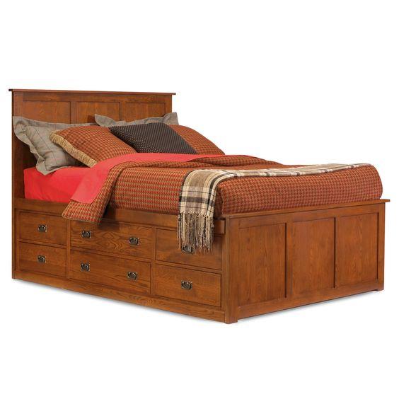 Prairie Mission Pedestal Storage Bed By Mastercraft