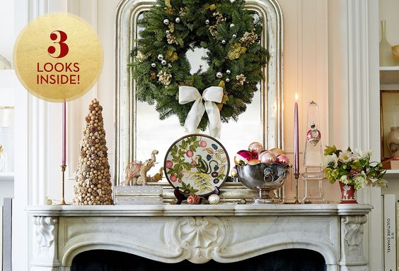 Holiday Decorating Ideas : Ways to Style Your Mantel