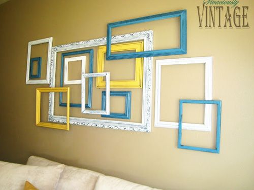 Good housekeeping empty frames and galleries on pinterest for Blank wall ideas