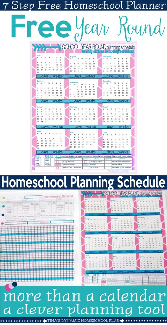 Calendar Planner Tool : Homeschool calendar and free on pinterest