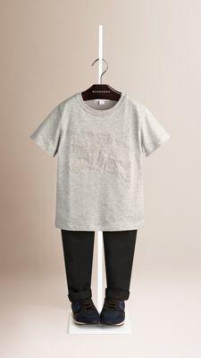 T-shirt en coton orné du logo du Cavalier