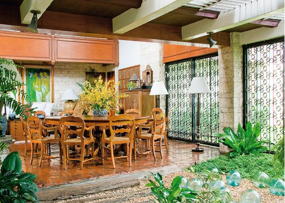 Houses for sales philippines and hawaii on pinterest for Native house interior designs