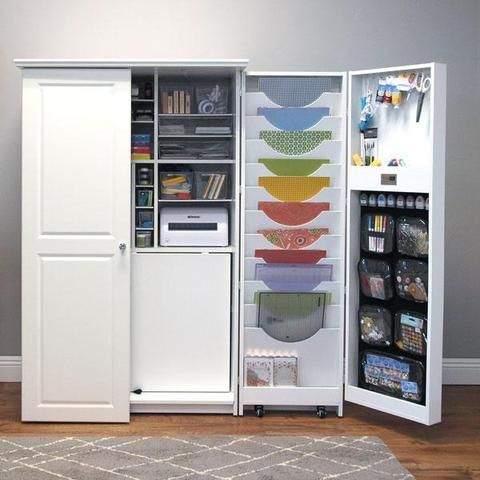 Retractable Wardrobe Pangesand Craft Room Storage Home Woodworking Projects Plans
