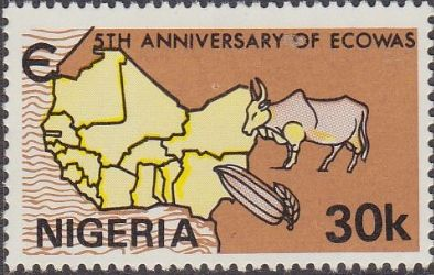 Nigeria 1980 ECOWAS Fine Mint As SG 419 Scott 397 Other Commonwealth Stamps for sale here