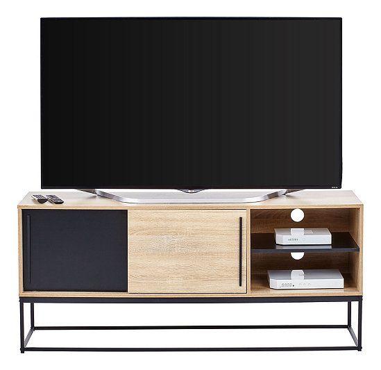 Meuble Tv Industriel Vincente Noir Chene Meuble Tv Industriel Meuble Tv Mobilier De Salon