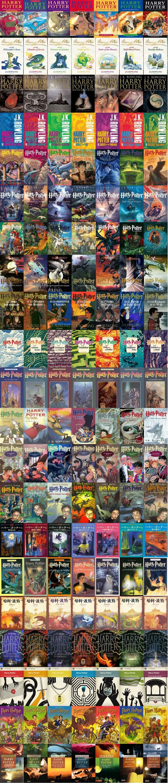 21 'Harry Potter' covers from around the world. I'm sorry what?? I want them all!!!