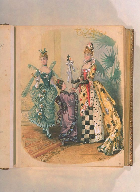 Victorian fancy dress. Feb & March