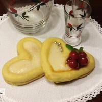Puits d´amour o corazones de masa con crema chiboust a la vainilla. Receta para San Valentín