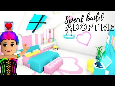 Adopt Me Speed Build Adopt Me Building Hacks Adopt Me Bedroom Adopt Me Futuristic House Youtube Futuristic Home Adoption Cute Room Ideas