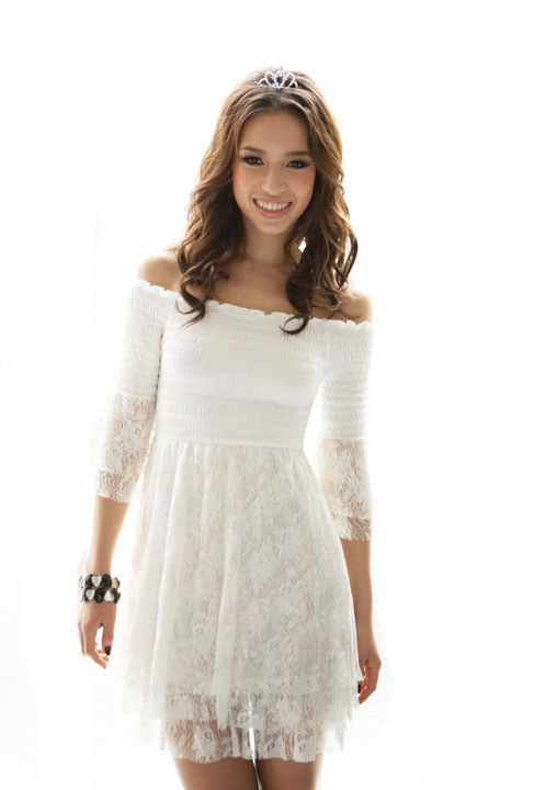 country style dresses for women - ... Lace-Off-Shoulder-Short ...