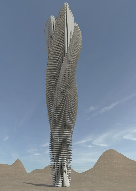 Concept Tower by Valerio López Acevedo. Software: Grasshopper Vray Autodesk 3ds Max Rhinoceros 5.5:
