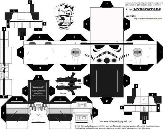 free paper craft cubee printable freebies pinterest star wars party fan art and paper art. Black Bedroom Furniture Sets. Home Design Ideas