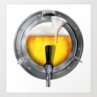 Beer Porthole  Art Print