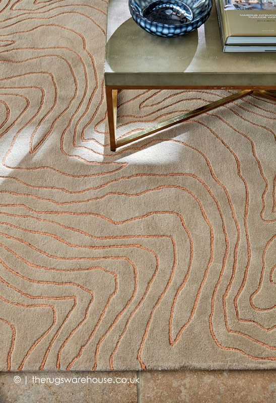 New In Formation Copper Rug By