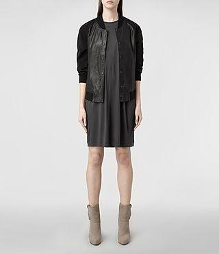 Womens Rae Dress (Dark Charcoal/Blk) | ALLSAINTS.com