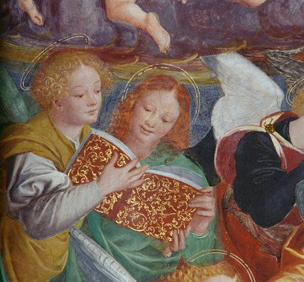 The Concert of Angels, 1534-36 Ferrari, Gaudenzio Singing Book