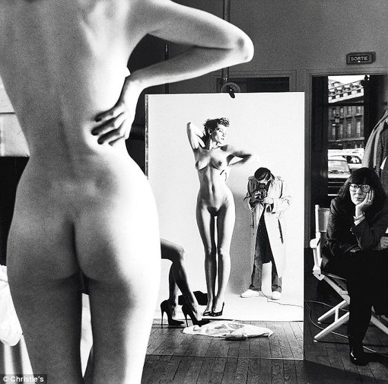 """To have taboos, then to get around them – that's interesting"" – Helmut Newton.   Please note the woman watching - June Newton, a.k.a. photographer Alice Springs (an Australian, she named herself after the city there!)."