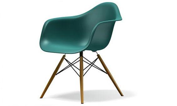 Woonloods1 eames dsw stoel petrol groen op goedkoper woonkamer pinterest - Eames eames stoel ...