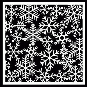 Gorgeous Snowflake Background by Bird!