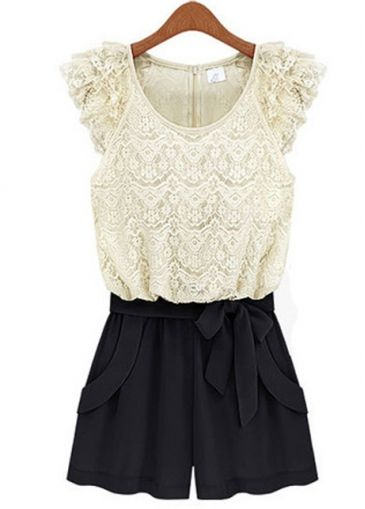 Lace Rompers White And Black // I wish these were made for tall people because i love the look.