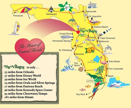 the villages florida Maps of The Villages – Tourist Map Of Florida Attractions