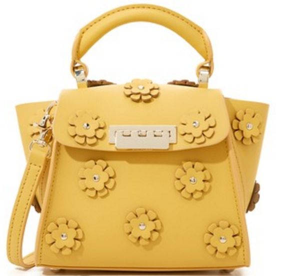 Yellow Embellished Mini-Bag by Zac Posen