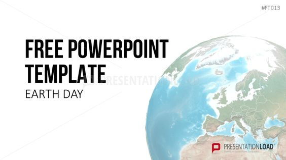 Free PowerPoint template - Earth Day