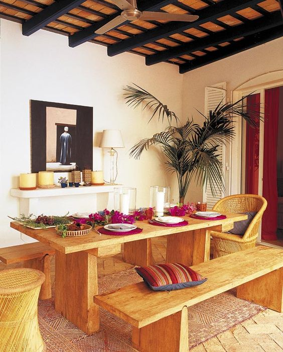 Terrazas y zonas de exterior hijos comedores al aire for Muebles de terraza madera