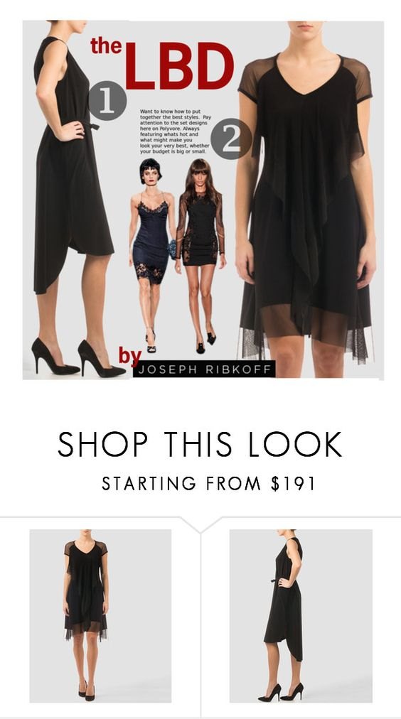 """The Little Black Dresses by Joseph Ribkoff"" by premiereavenue-boutique ❤ liked on Polyvore featuring Joseph Ribkoff, country, LBD, blackdress, premiereavenue, premiereavenueboutique and JosephRibkoff"