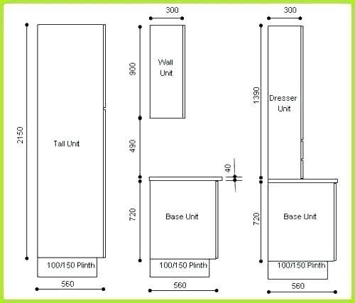 Standard Kitchen Cabinet Dimension Standard Kitchen Drawer Height
