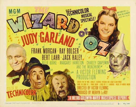 The Wizard of Oz  Judy Garland, Frank Morgan, Ray Bolger, Bert Lahr 1939: