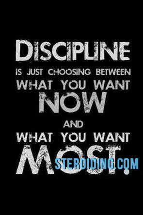 Disciplina es seguir adelante aún cuando crees que no puedes seguir. Empujar los límites. Poner el listón cada vez más altos. : more at Steroiding.com