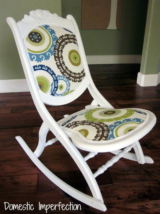 Rocking chair makeover - this chair was originally found in a dumpster! It received a makeover and new life for about $10 (post includes simple instructions).