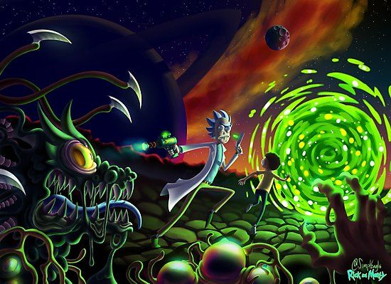 Run Rick And Morty Photographic Print By Simpleagle Rick And Morty Poster Rick And Morty Stickers Rick And Morty