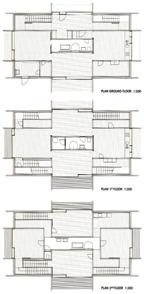 Peter zumthor haus luzi in the village of jenaz for Haus plan